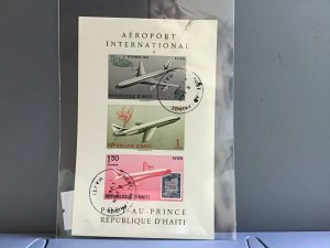 Republic D'Haiti Airport International cancelled stamps sheet  R27053