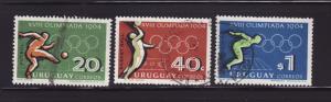 Uruguay 722-723, 725 U Sports, Olympics (A)