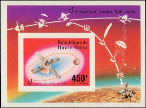 Burkina Faso #398-400, C238-C240, Complete Set(5) + Souvenir Sheet, Imperfora...