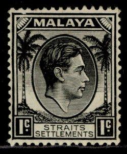 MALAYSIA - Straits Settlements GVI SG278, 1c black, M MINT. Cat £14.