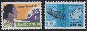 Nauru 86-87 MNH (1968)