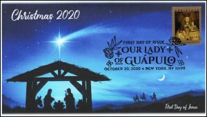 20-264, 2020,Our Lady of Guapulo, First Day Cover, Pictorial Postmark, Christmas