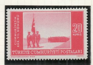 Turkey 1953 Early Issue Fine Mint Hinged 20k. NW-18187
