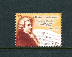 Peru 1535, MNH, Personality Wolfgang Amadeus Mozart 2006. x29696