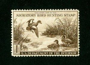 RW9 1942 Federal Duck Stamp VF-SUPERB Unsigned No Gum-No Faults-$125CV OFFER?