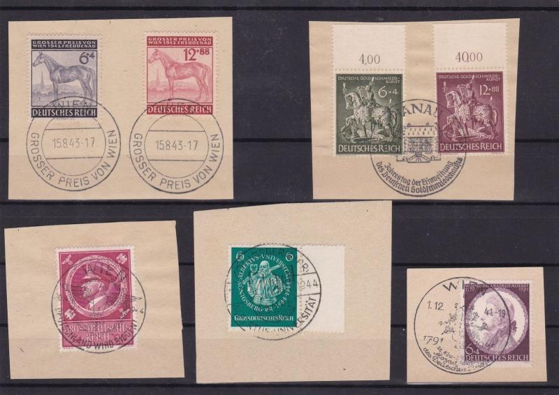 german third reich stamps+ special cancels  ref 12093
