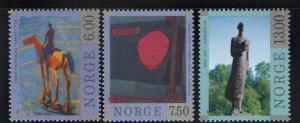 Norway Scott 1198-1200 MNH** Contemporary Art set 1998