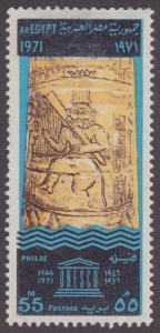 Egypt 880 Submerged Pillar, Philae 1971