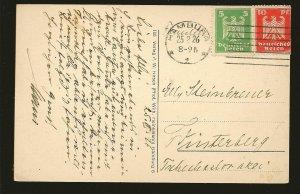Germany 331-332 on PM 1926 Hamburg Postcard Used