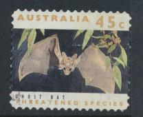 Australia SG 1332p  Used perf 11½ phospher band -Threatened Species -Ghost Bat