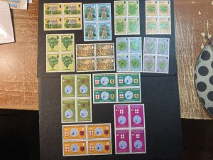 GUERNSEY # 119-130-MINT NEVER/HINGED--3 COMPLETE SETS OF BLOCKS OF 4--1975