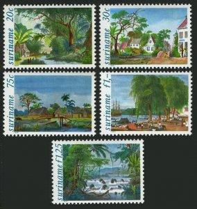 Surinam 583-587,586a,MNH.Mi 957-961,Bl.31. Paintings by Benoit:Landscapes.1981