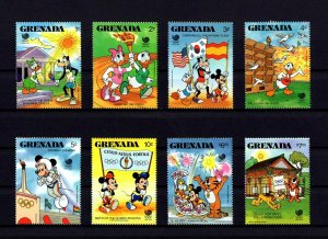 GRENADA - 1988 - DISNEY - MICKEY - SEOUL OLYMPICS - TORCH - DOVES + 8 X MNH SET!