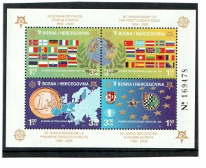 2005  BOSNIA  -  SG: MS845  -  EUROPA STAMPS 50th ANNIVERSARY - UNMOUNTED MINT