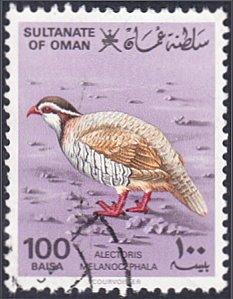 Oman # 233 used ~ 100b Bird – Red-legged Partridge
