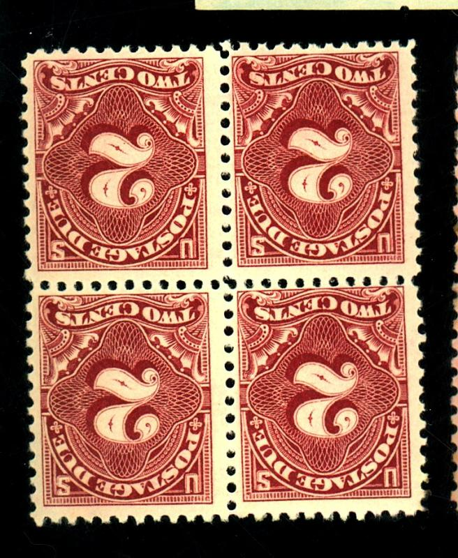 J62 MINT Block F-VF OG Top LH Bottom NH Cat $24