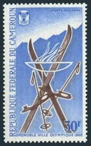 Cameroun C91,MNH.Michel 519. Olympics Grenoble-1968.Skis,Ice skates.1967.
