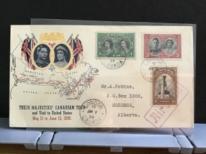Canada 1939 Royal Canadian Tour  stamps cover R31640