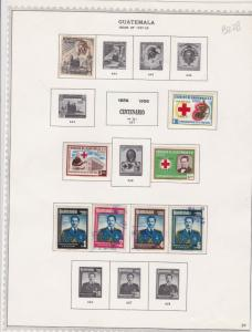 guatemala issues of 1957-59 stamps page ref 17659
