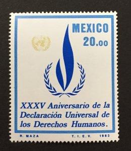 Mexico 1983 #1337,Human Rights, MNH.