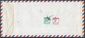 MALAYSIA 1989 cover ex Singapore with postage dues ........................10057