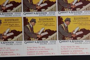 Garratt Atkinson Engraver artist W5 Printer stamp ad sheet London Poster Art DM