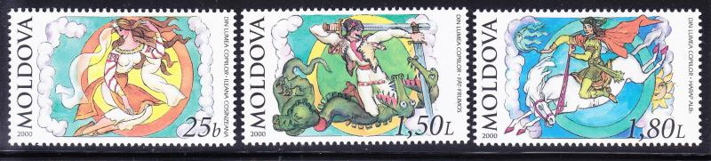 Moldova issue of 2000 Fairy Tales Complete XF/NH(**)