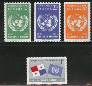 PANAMA Scott C199-C202 1958 UN Airmail set CV$4.05