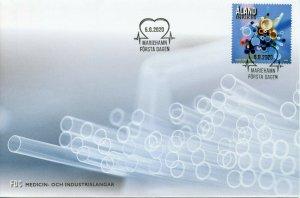 Aland Science Stamps 2020 FDC Medical & Industrial Tubing Health 1v Set