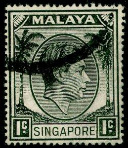 SINGAPORE SG16, 1c black, USED.