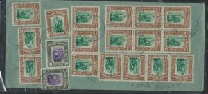 NORTH BORNEO  (P0209B) 1946 BMA 15CX17+10C X2 A/M  TO SCOTLAND