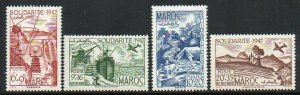 French Morocco: 1948 Solidarity Fund set (4) SG 343-6 mint