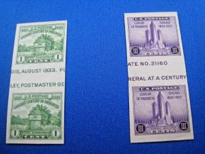 U.S. STAMPS FOR COLLECTORS - SCOTT #766a, 767a - HORIZONTA GUTTER PAIRS  (kb766)