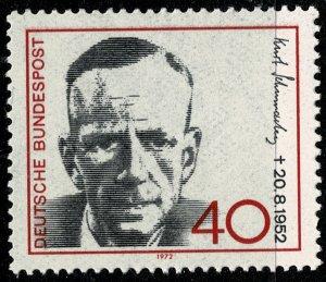GERMANY 1972 20th DEATH ANNIVERSARY of K. SCHUMACHER SG 1628 MINT (NH) SUPERB