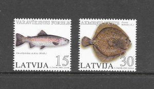FISH - LATVIA #596-7  MNH