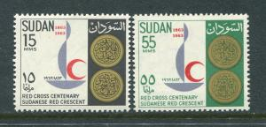 Sudan 162-3 Mint NH 1963 Red Cross. NO per item S/H fees