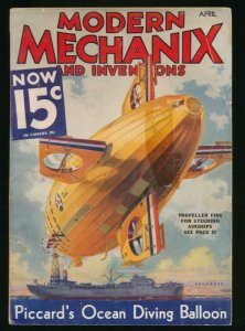 UNITED STATES MODERN MECHANIX APRIL 1933 AIRSHIP ISSUE