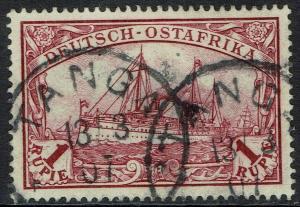 GERMAN EAST AFRICA 1901 YACHT 1R NO WMK USED