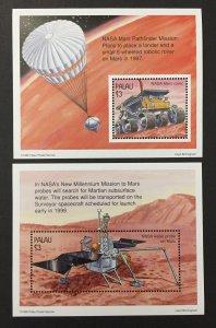 Palau 1997 #411-2 S/S, Voyage to Mars, MNH.