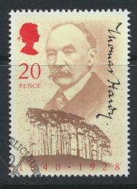 Great Britain  SG 1506 SC# 1326 Used / FU with First Day Cancel - Thomas Hardy
