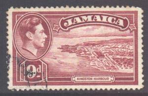 Jamaica Scott 124 - SG129, 1938 George VI 9d used