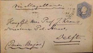 O) 1902 CHILE, VIA MAGALLANES,PAISES BAJOS,  CHRISTOPHER COLUMBUS 10c, POSTAL