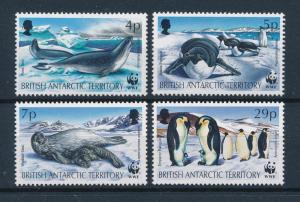 [53905] British Antarctic Territory 1992 Marine life WWF Seal Penguins MNH