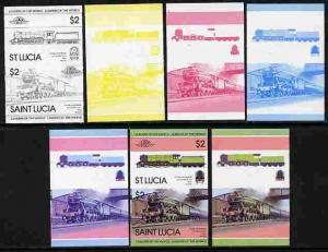 St Lucia 1983 Locomotives #1 (Leaders of the World) $2 Fl...