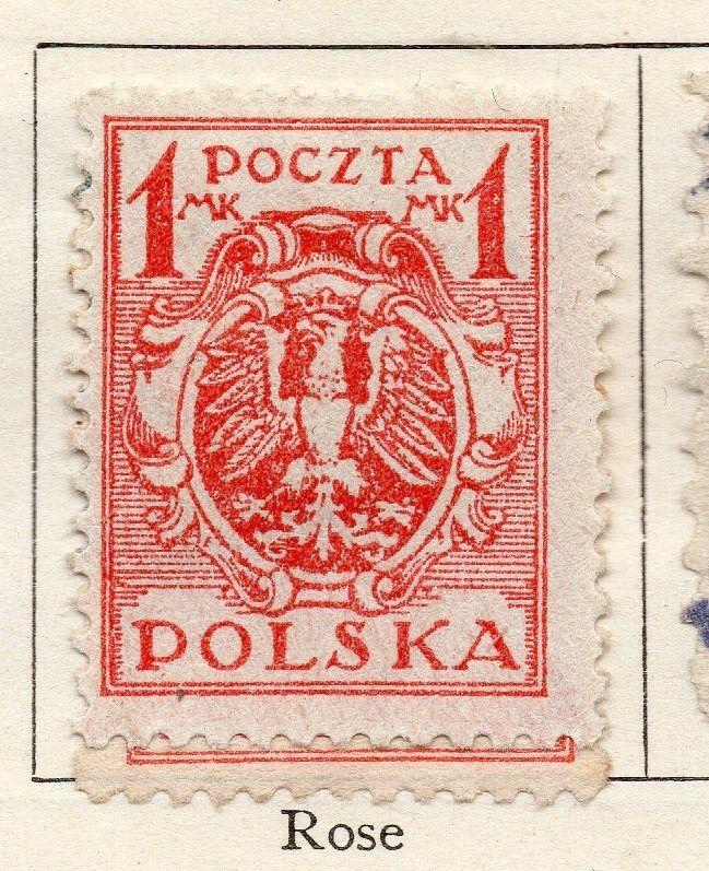 Poland 1920 Early Issue Fine Mint Hinged 1m. 267817