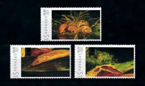 [100062] Grenada 2009 Art Painting Van Gogh Still Life Apples Meat bread  MNH