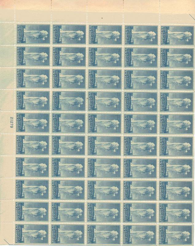 US 744 - 5¢ Old Faithful, Yellowstone Unused