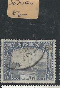 ADEN  (PP0807B)  DHOW  3 1/2A  SG  7   VFU