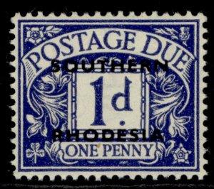 SOUTHERN RHODESIA GVI SG D2, 1d violet-blue, LH MINT.
