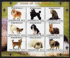 Turkmenistan 2000 ? Dogs of the World perf sheetlet conta...